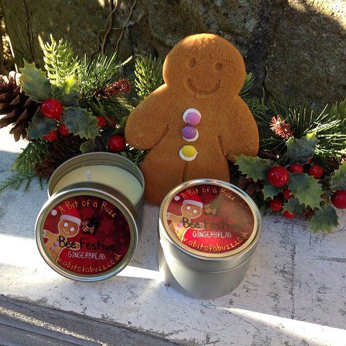 Beeswax Gingerbread Tin Candle